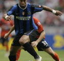 巴西前锋阿德里亚诺(Ribeiro Adriano)是国米的希望/AFP/Getty Images