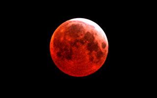 月全食奇觀令天文愛好者驚嘆