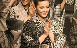 2007年日本時尚週從3月12 日至3月16 日在東京展出,圖為日本和服設計師Jotaro Saito 的作品。(圖片來源: Koichi Kamoshida/Getty Images)