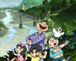 """在台湾家喻户晓的""""大婶婆与小聪明""""是著名漫画家﹑及发明家刘兴钦的首部卡通系列片﹐首批光盘在台湾已经售罄。目前在美加开始发行。美加总代理人曾鸿图表示﹐""""大婶婆与小聪明""""通过幽默风趣的手法,传递道德和科学﹐教育小朋友。 (曾鸿图提供)"""