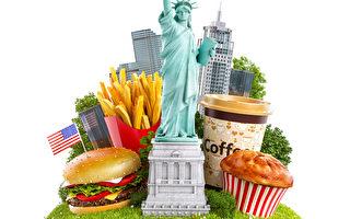 自由女神像和傳統的美式食物(fotolia)