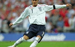 图:在英格兰与巴西友谊赛中,贝克汉姆有着出色的发挥。(CARL DE SOUZA/Getty Images)