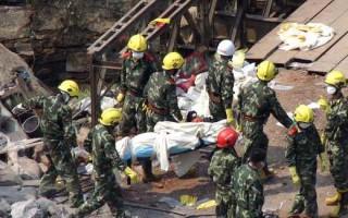 組圖:鳳凰大橋垮塌 已找到41遇難者