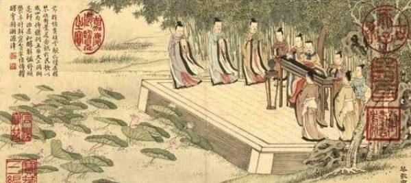 古人的教育强调在重德的基础上均衡发展,孔子教弟子六艺:礼、乐、射、御、书、数,其中的乐就包括声乐教育。(公有领域)