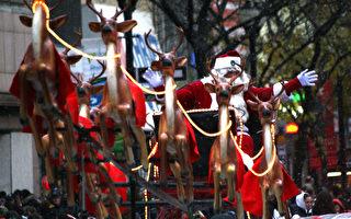 加拿大圣诞游行登场 天国乐团受欢迎