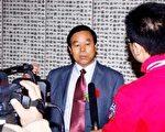 书法家刘锡铜先生接受电视台采访