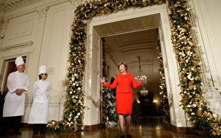 組圖:美第一夫人展示白宮聖誕裝飾