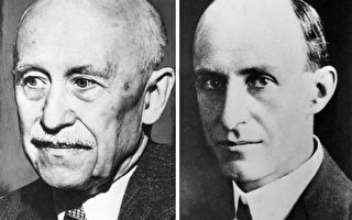 美國發明家萊特兄弟,維爾伯.萊特(左)和奧維爾.萊特(右)。(AFP)