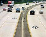 维州高速公路的高载客量线道(HOV)。(图片提供:维州交通部)