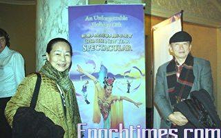 中國民主黨主席徐文立及夫人。(攝影﹕徐明/大紀元)