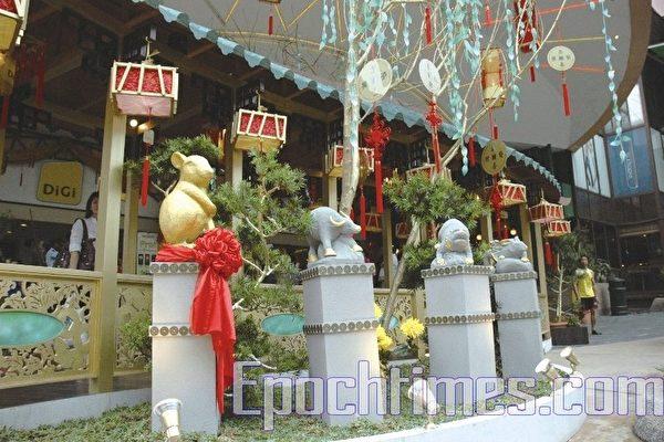 馬來西亞的中國新年裝飾