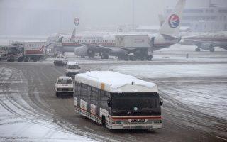 上海一半區域出現暴雪 積雪最深15釐米