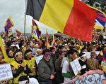 流亡藏人在印度北部城鎮達然薩拉(Dharamshala)抗議中共殘暴鎮壓(DOMINIQUE FAGET/AFP/Getty Images 2008-3-16)
