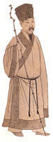 宋朝:交領宜身寬袖長衫,東坡巾。(網路圖片) (攝影:[匿名] / 大紀元)