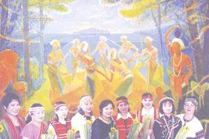刘丁妹鼓励原住民姊妹们相惜扶持,位部落点一盏灯。(图/台湾原住民妇女阳光成长协会提供)