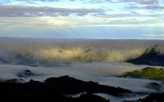 梅岭伍龙殿赏萤步道还可欣赏云海景观。(陈鸿文提供)