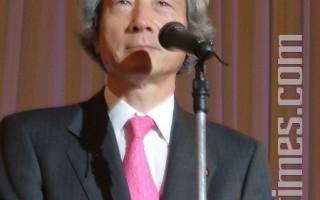 日本民间组织就下一任首相的人选开始进行了民意调查,结果显示首选竟是,前首相小泉纯一郎。(摄影:吴丽丽/大纪元)