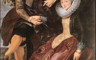 """鲁本斯是位热情澎湃,丰富多产的画家,图为他在一六零九年为结婚而做的作品:""""画家与妻子"""",油画,178 x 136.5cm,现藏于德国慕尼黑旧美术馆(Alte Pinakothek)。(故宫博物院提供)"""