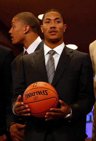 羅斯以2008選秀狀元身分加入公牛。(26 Jun 2008 By: Nick Laham / Getty Images Sport)