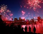 今年5月紐約市慶祝布魯克林橋(Brooklyn Bridge)125週年慶。(Spencer Platt/Getty Images)