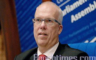 瑞典國會議員、歐洲委員會議院大會副主席林德布拉德批評,自從中共獲得奧運申辦權後,中國的人權一點都沒有改善。(大紀元資料圖片)