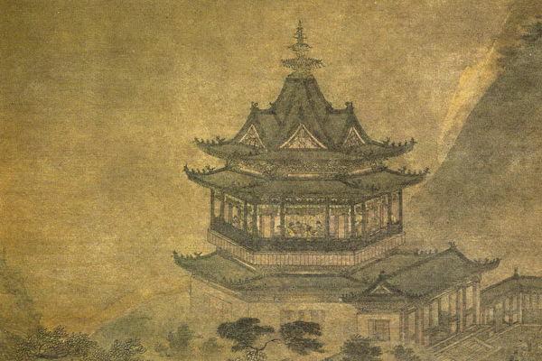 明代安正文《岳阳楼图》 。(公有领域)