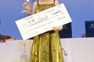 """荣获2008年新唐人""""全世界华人小提琴大赛""""金奖的童颜。(大纪元)"""