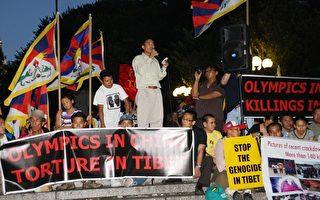 纽约自由西藏学生会于奥运前夕举办烛光哀悼会﹐谴责中共残酷镇压藏族。(摄影﹕黎新∕大纪元)