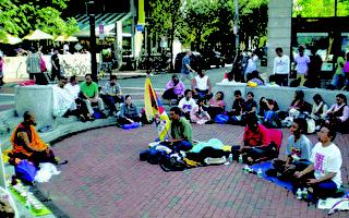 响应全球禁食抗暴 藏人哈佛广场集会