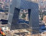 中央电视台新楼(大裤衩)。 (AFP)