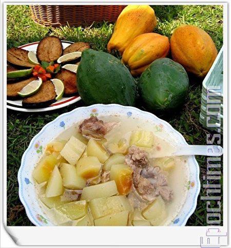 青木瓜排骨湯自古就是天然的豐胸聖品(攝影:楊美琴/大紀元)