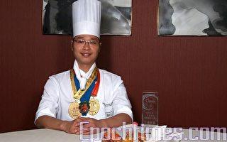 """香港淮扬菜名厨陈国强师傅表示,作为一个厨师最重要就是一个""""心""""字,要用心做好一道菜。他对自己在""""全世界中国菜厨技大赛""""决赛中的表现充满信心。(大纪元)"""