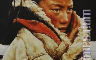 范一鳴的作品《西藏男孩》獲「全世界華人人物寫實油畫大賽」銀獎   (攝影:戴兵/大紀元)