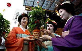 艺妓是日本的重要文化遗产。艺妓梳上包头,穿上和服,从脸到脖子,都抹得白白的样子相当吸引观光客。(Kiyoshi Ota/Getty Images)