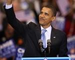 奧巴馬成為歷史上首位入主白宮的黑人總統候選人。其競選口號「改變」(Change)、「希望」(hope)與當選演講名言「是的,我們能」(Yes, We Can.)已經成為此間最流行的口語。(Scott Olson/Getty Images)