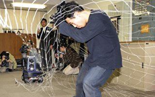 日本保安機器人 拋網抓小偷
