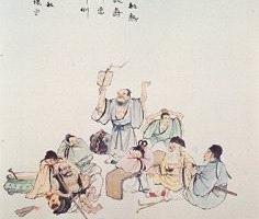 澳大利亞畫家章翠英所繪的八仙圖。(大紀元)