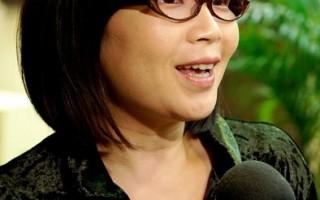 台灣廣播電視界知名主持人,資深媒體人蔡玉真。(攝影:李愿/大紀元)