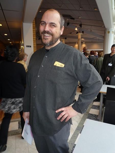 瑞典小说家布劳尼观看了神韵纽约艺术团3月21日下午在林雪平的演出。(摄影:Hans Bengtsson/大纪元)