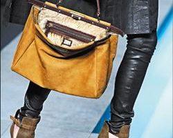 """Fendi品牌新款""""Peekaboo Bag"""",是专为女强人设计的提包。(法新社)"""