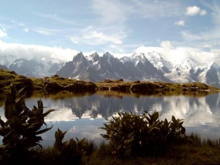 阿爾卑斯山的白朗峰是歐洲最高峰。 (維基百科)