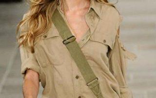 休闲女牛仔装: 从拉夫‧劳伦(Ralph Lauren )2009年春装展示会上的这款时装里,我们又看到了昔日美国西部的影子。(Fernada Calfat/Getty Images)