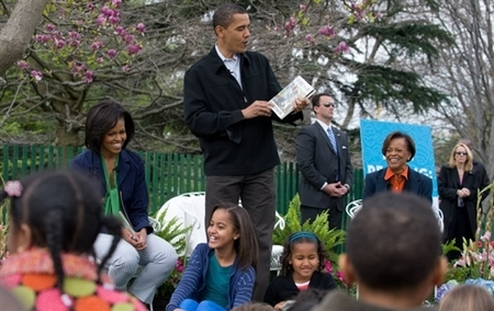 庆祝复活节 奥巴马开放白宫与民同乐