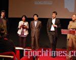 4月27日,法國記者無疆界在法國新聞製作學校(ESRA)召開了題為「北韓之夜」的人權問題研討會,法國人權國務秘書Rama Yade到場致詞。(攝影:周亦菲/大紀元)