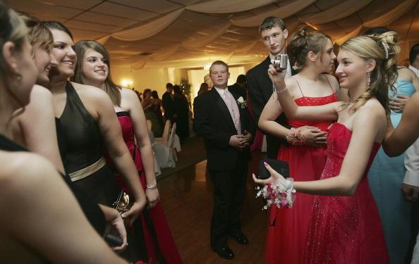 高中的畢業舞會Prom具有濃郁的美國文化特色(Mario Tama/Getty Images)