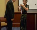 獲獎人之一,羅馬尼亞主教Laszlo Tokes。(攝影﹕簡民/大紀元)