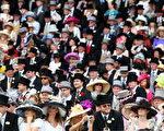 6月16日,英国阿斯科特皇家赛马场,观看的女士们头戴着各种鲜艳靓丽的帽子。 (Photo by Julian Herbert/Getty Images)