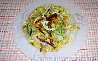 【健康輕食料理】蔬菜蛋皮涼麵