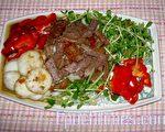 涼拌茄汁牛肉(圖:梅芬/大紀元)