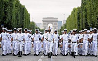 印军法国庆阅兵开队 彰显战略合作关系